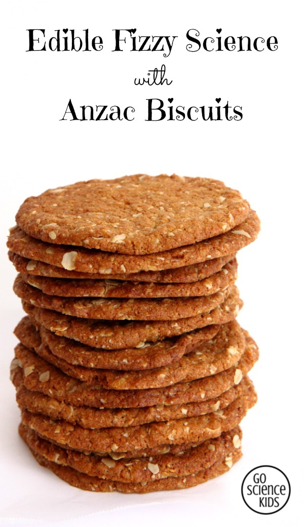 Edible Fizzy Science with Anzac Biscuits - fun and yum for toddlers and up