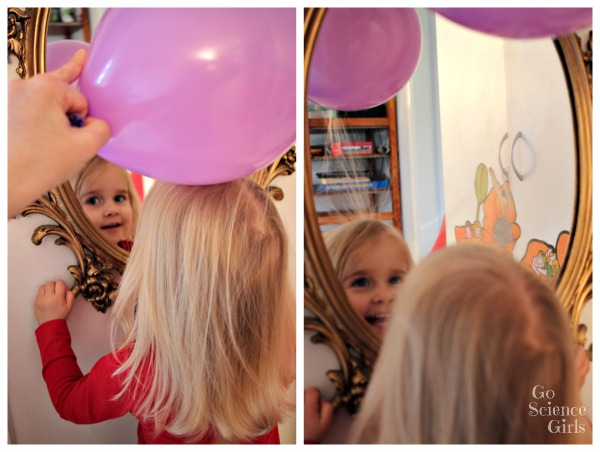 Fun science for toddlers static electricity hair