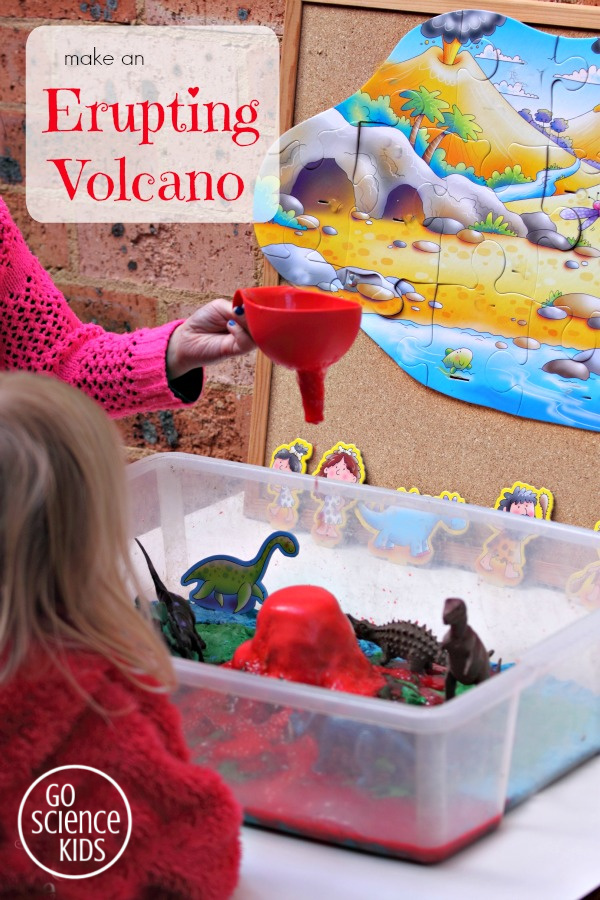 Fun science - make an erupting volcano