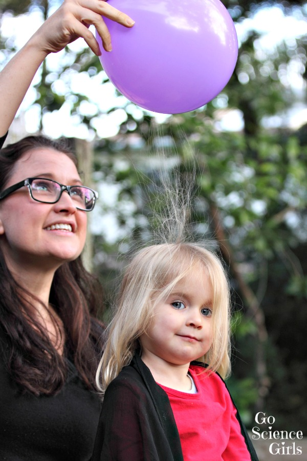 Static electricity play for toddlers