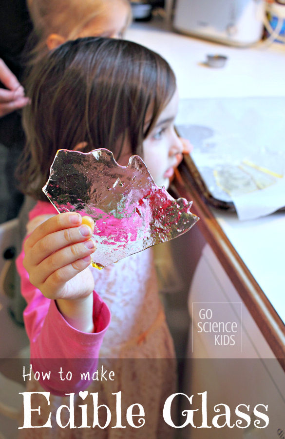 How to make edible sugar glass - fun kitchen science for kids