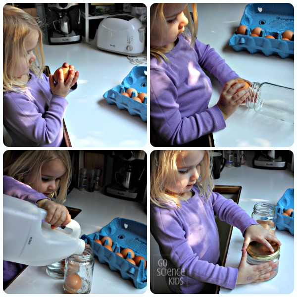 Making a 'naked egg' - fun science demonstration for kids