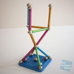Geomag glitter construction toy