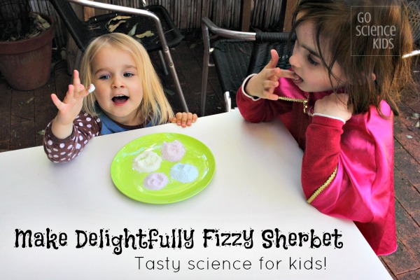 Make delightfully fizzy sherbet - tasty edible science for kids