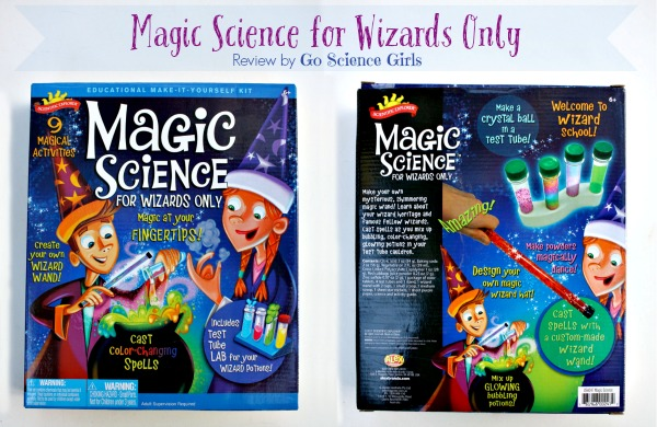 Magic Science for Wizards Only - review by Go Science Kids