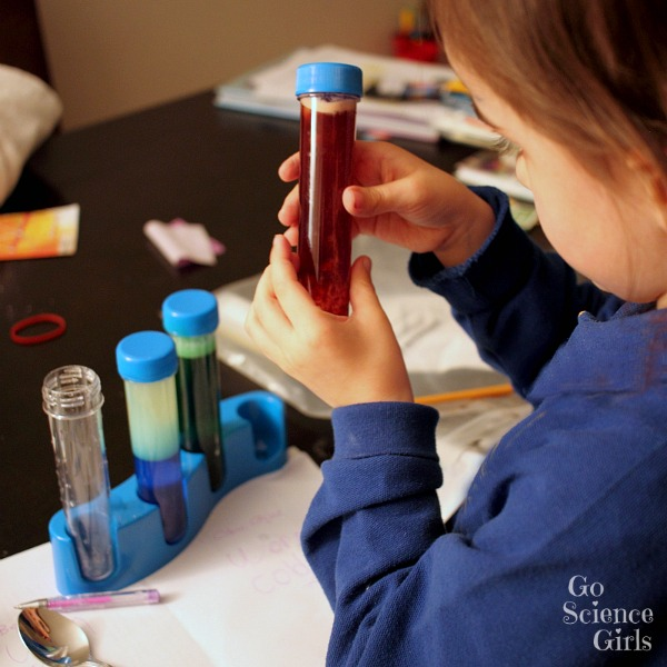 Test tube play with Science Magic kit