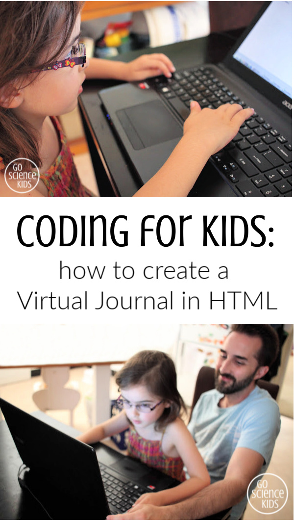 Coding for Kids how to create a virtual journal in html