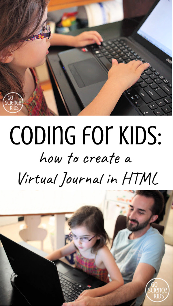 Kids coding how to create a virtual journal in html