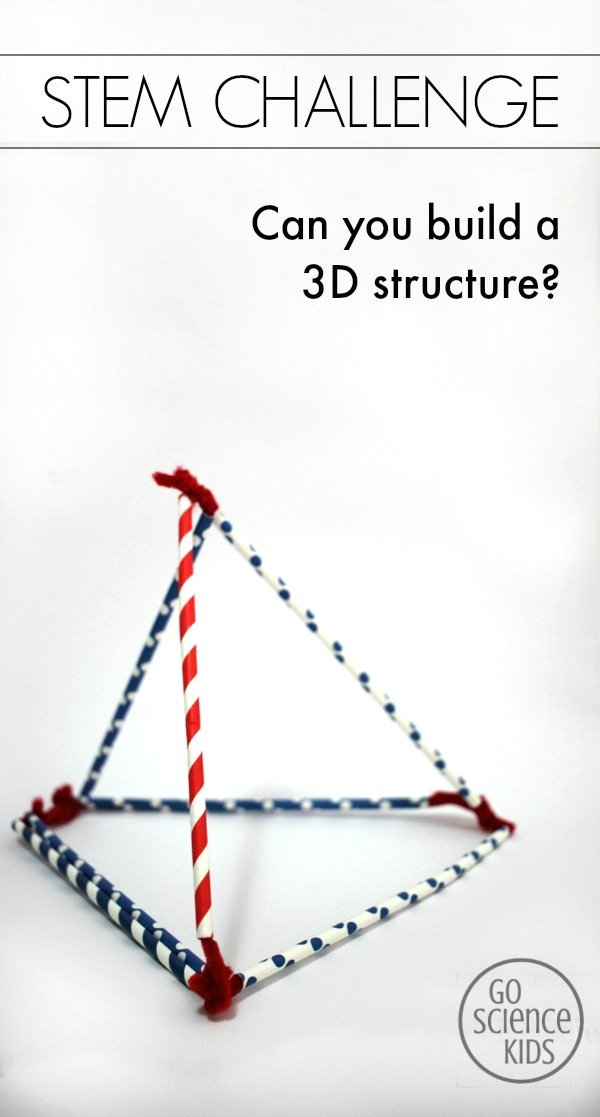 STEM Challenge. Can you build a 3D structure