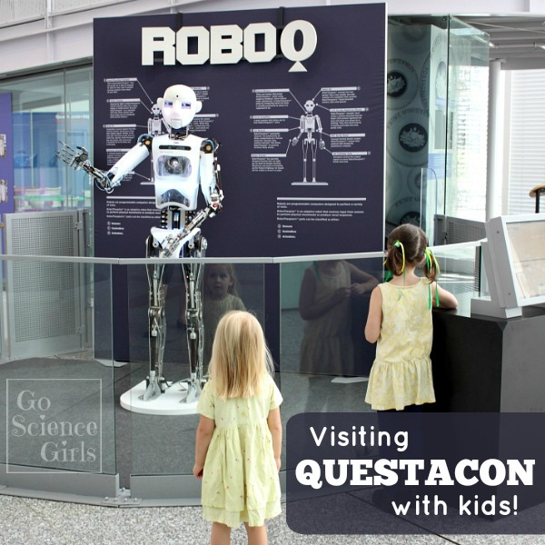 Visiting Questacon - the national science and technology centre - with kids
