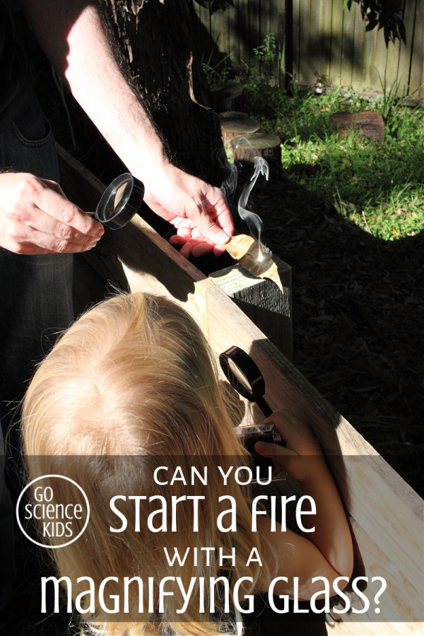 Can you start a fire with a magnifying glass
