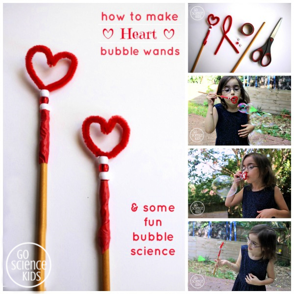 DIY heart bubble wands
