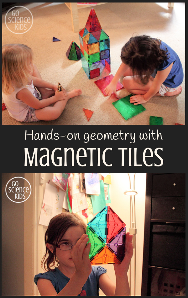 Hands on geometry play with magnetic tiles
