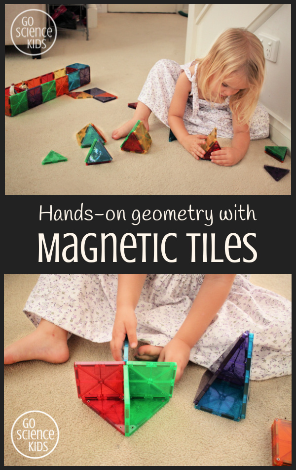 Hands on geometry through play with magnetic tiles