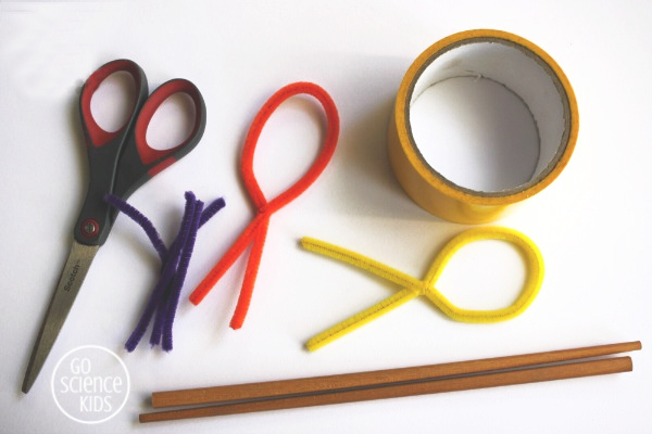 Materials to make Easter egg bubble wands