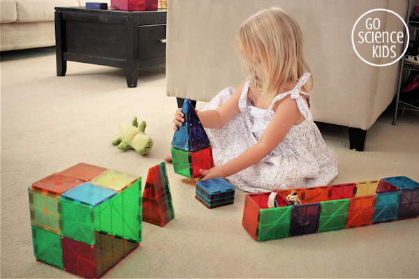 building with magnetic tiles