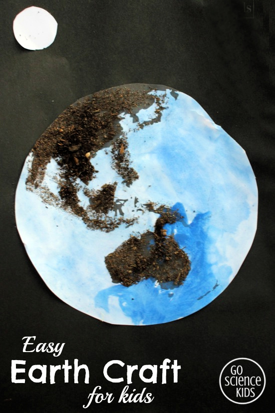 Easy Earth Craft for Kids, using real dirt. Fun Earth Day activity.