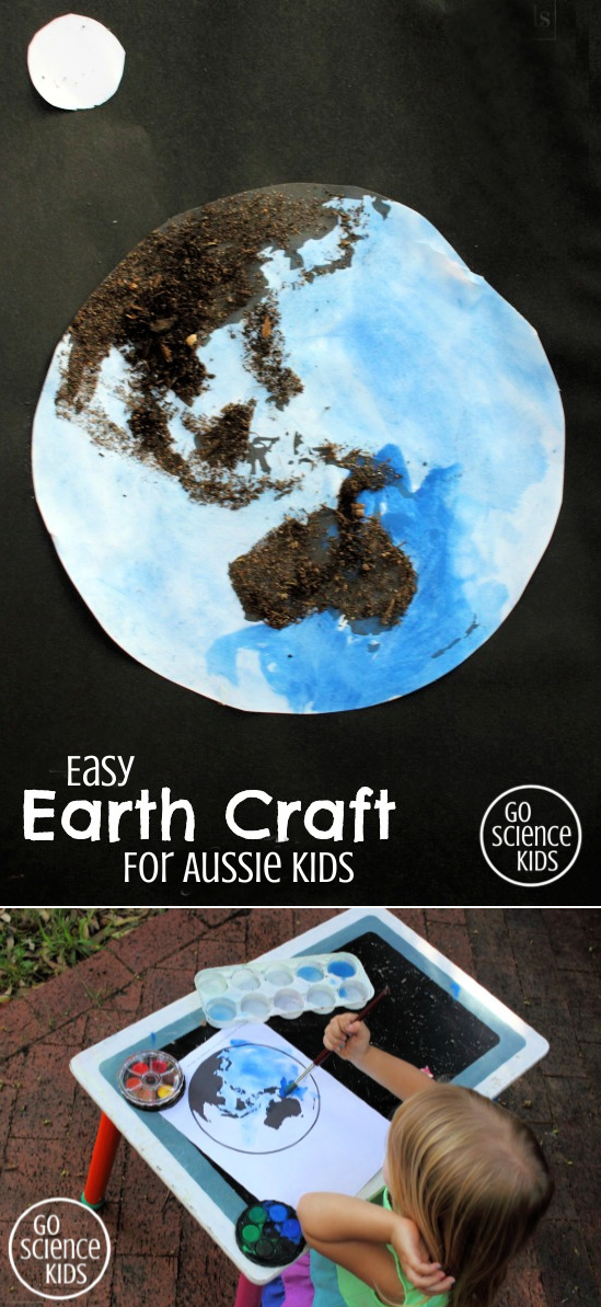 Easy earth craft for Aussie kids showing Australia