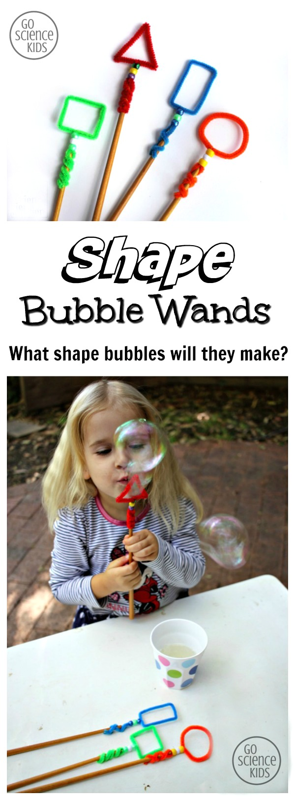 Shape Bubble Wands - what size bubbles will they make