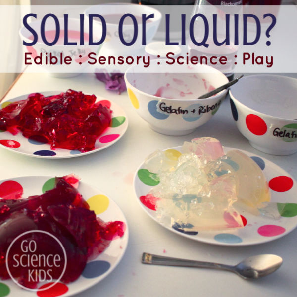 Solid or liquid play with jelly