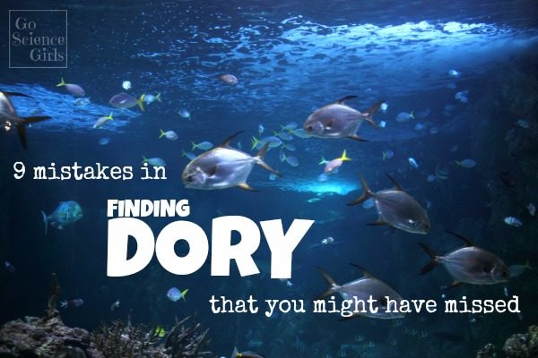 9 mistakes in Finding Dory that you might have missed - fun marine biology information for kids who have watched the movie and are interested to learn more.