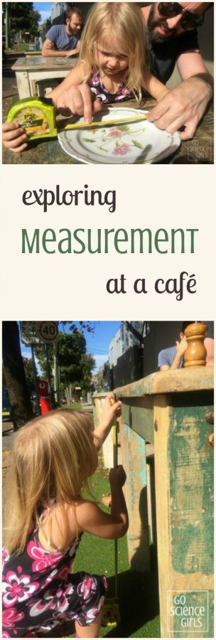 Exploring measurement at a cafe - fun math for preschoolers