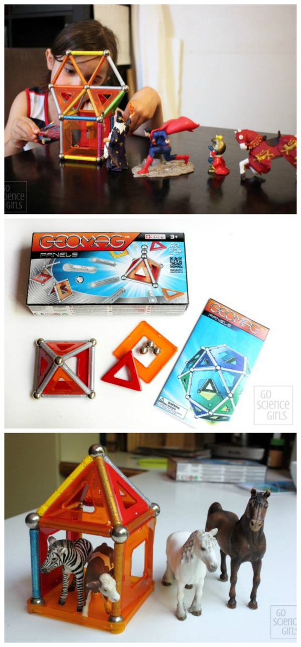 GEOMAG Panels - awesome STEM toy for girls, combining magnets, construction and open-ended imaginative play