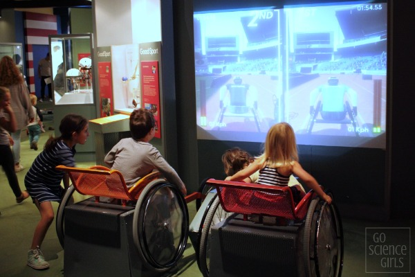 Wheelchair races at Scienceworks