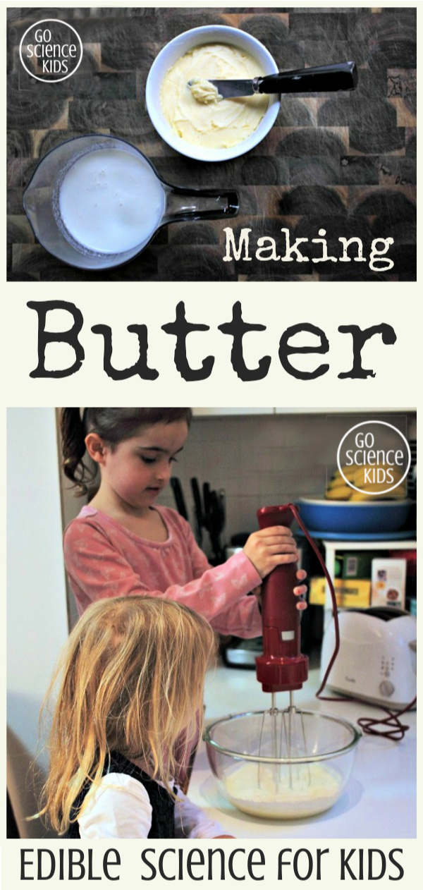Making butter - edible science for kids