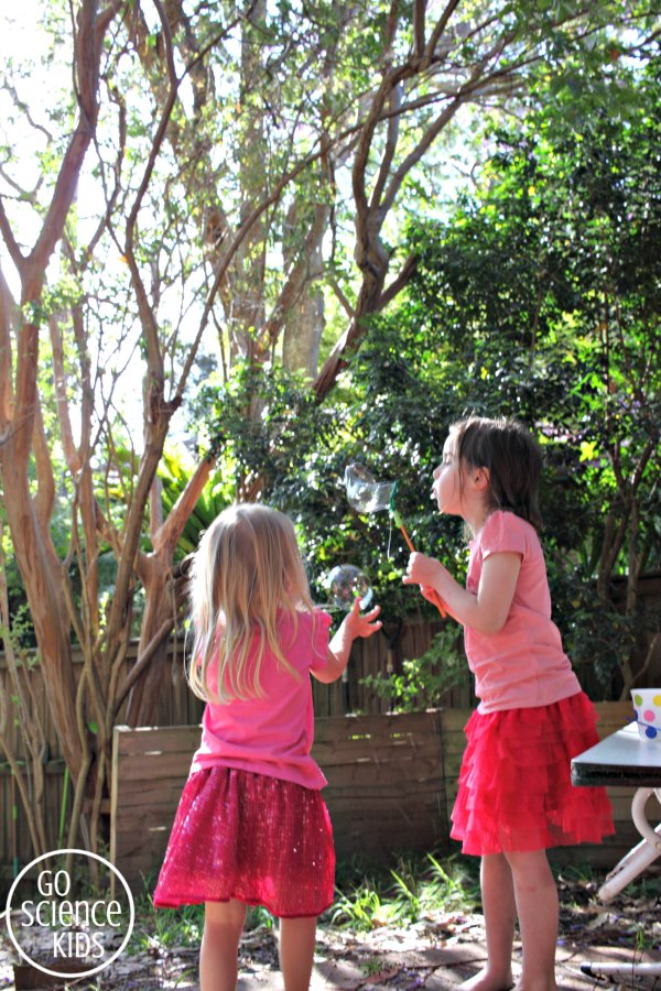 Bubble fun with DIY Christmas tree bubble wands