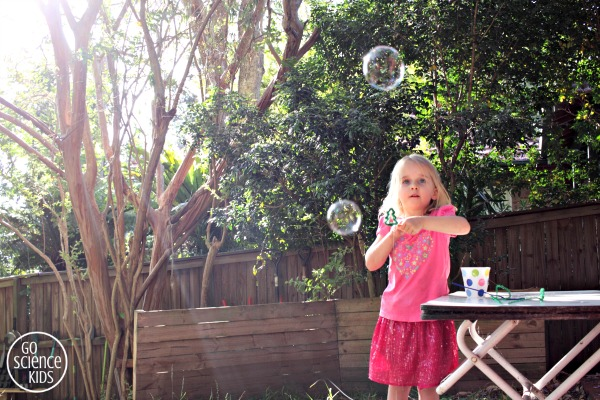 Christmas tree bubble play