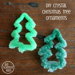DIY Crystal Christmas tree ornaments - Christmas STEM project for kids Science Craft
