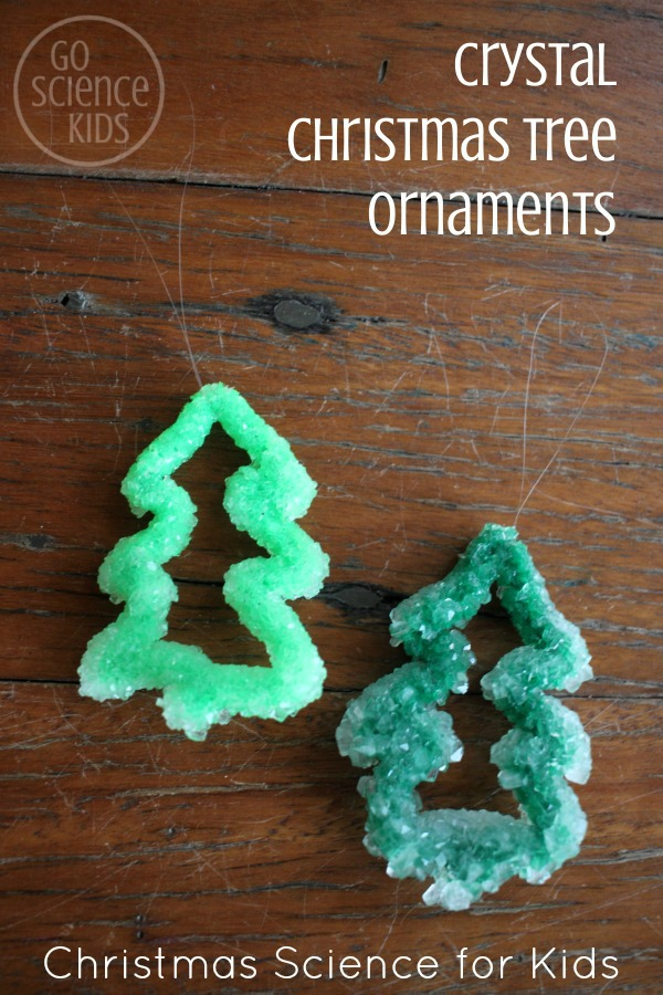 DIY Crystal Christmas tree ornaments - Christmas science project for kids Holiday STEM