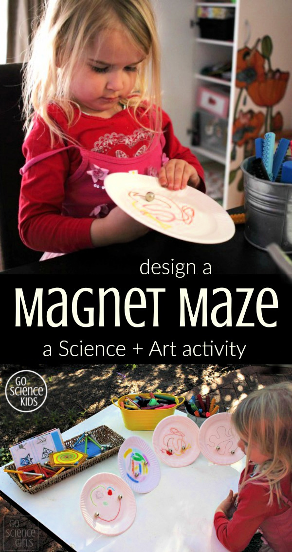 Design a Magnet Maze - a science + art activity