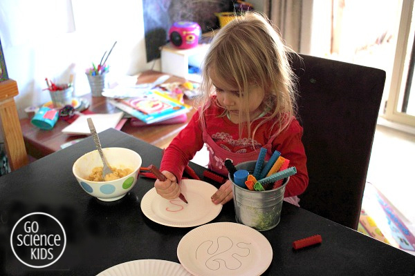 Drawing a paper plate maze