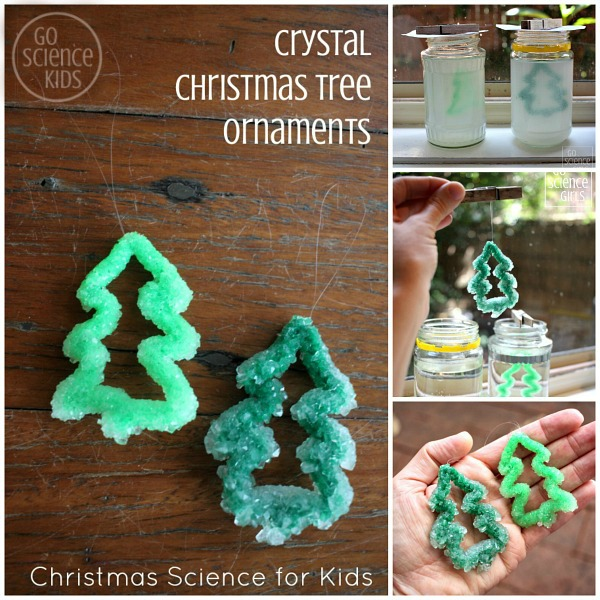 How to make Borax crystal Christmas tree ornaments - fun Christmas science project for kids