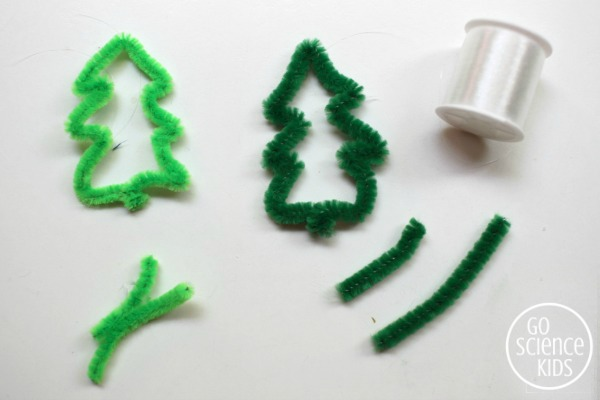 How to make pipe cleaner Christmas tree ornaments