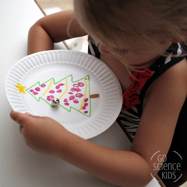 Make a Christmas tree magnet game - fun science for kids
