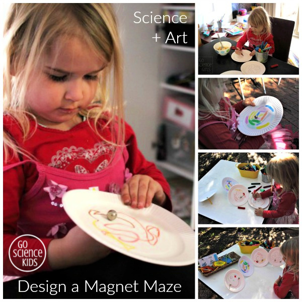 Science + Art Design a magnet maze