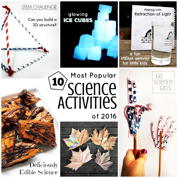10 most popular science activities of 2016 on Go Science Kids