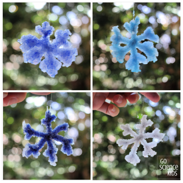 Crystal snowflake collage