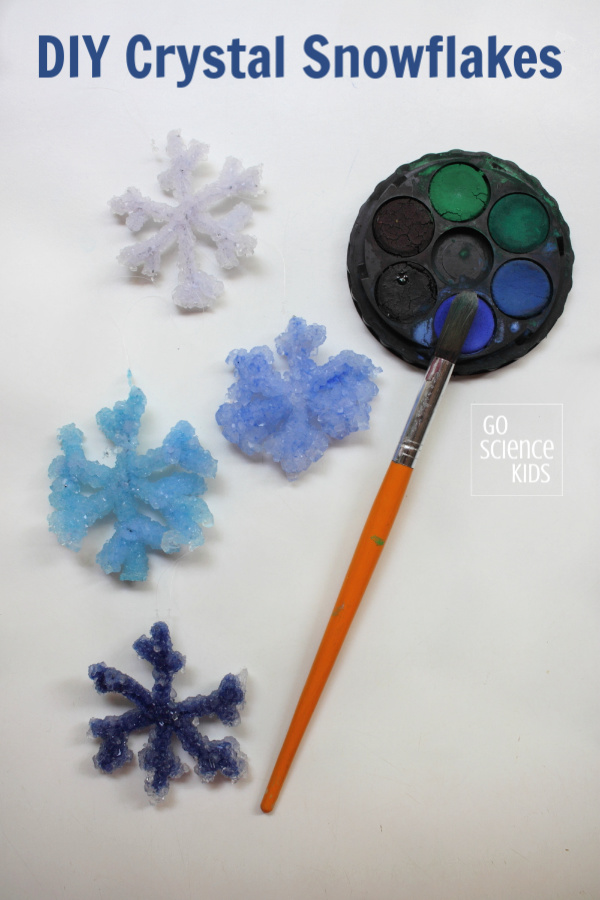 Make your own DIY crystal snowflakes at home - Go Science Kids