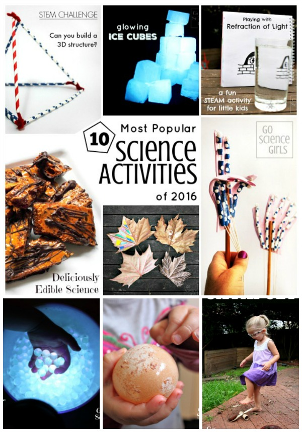 Top 10 most popular science activities (and a few bonus extra)of 2016 from Go Science Kids
