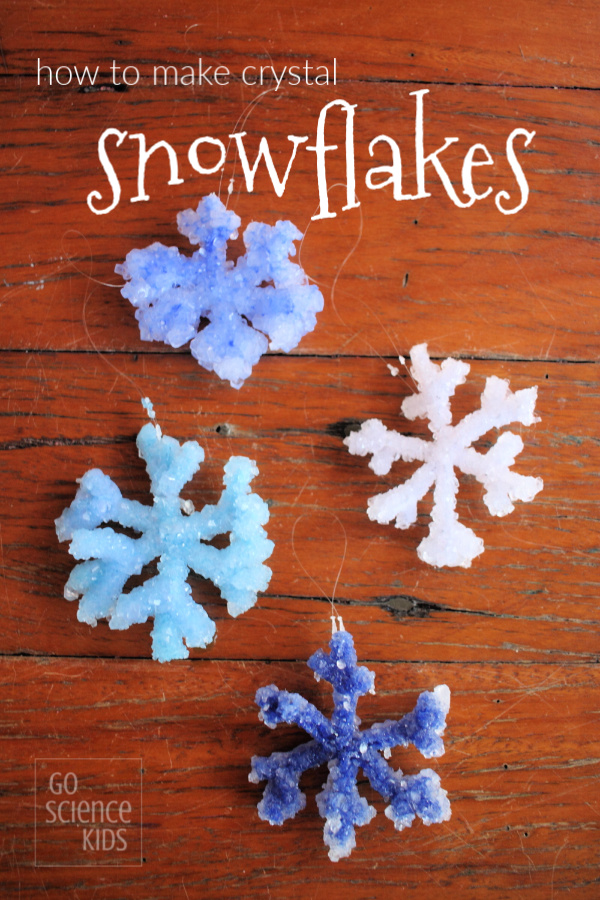 Winter science craft for kids - how to make crystal snowflakes (experiment _ tutorial)
