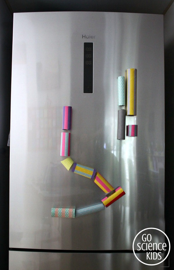 Magnetic marble run for your fridge door - fun science for kids