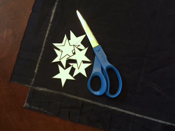 Cut stars (for the no-sew Big Dipper Pillow)