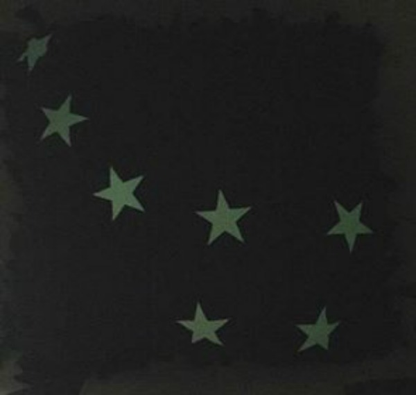 DIY glow in the dark Big Dipper constellation pillow