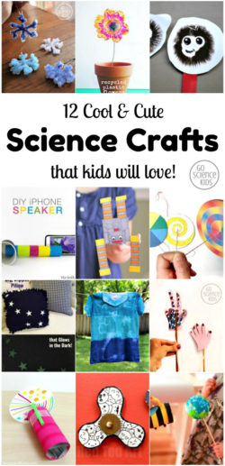 Cool and cute science crafts that kids will love! As recommended by Go Science Kids