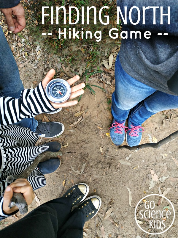 Finding North - a science hiking game for kids