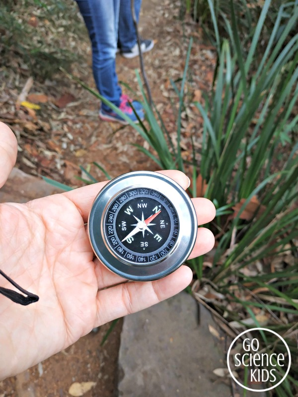 Using a compass to find north